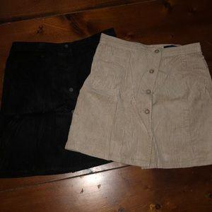 Set of 2 corduroy skirts
